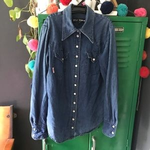 Vintage Betsy Johnson Western Style Button Down